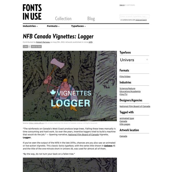 NFB Canada Vignettes: Logger