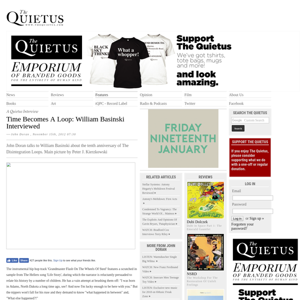 The Quietus   Features   A Quietus Interview   Time Becomes A Loop: William Basinski Interviewed