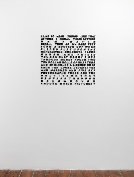 2018.01 Sable Elyse Smith: CONDO London