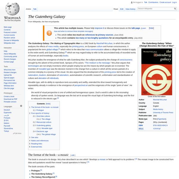 The Gutenberg Galaxy - Wikipedia