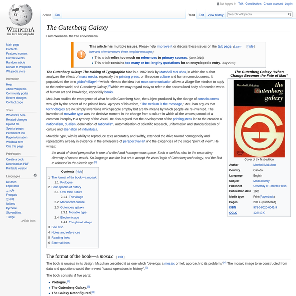 The Gutenberg Galaxy - Wikipedia
