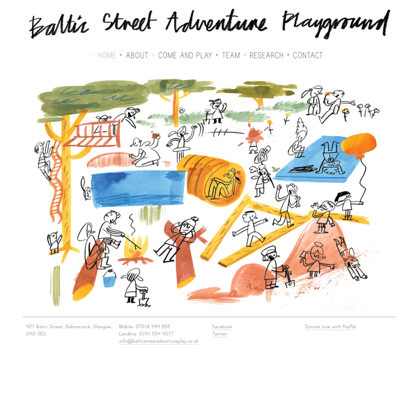 Baltic Street Adventure Playground will be a new permenant adventure play facility in Dalmarnock, east Glasgow.