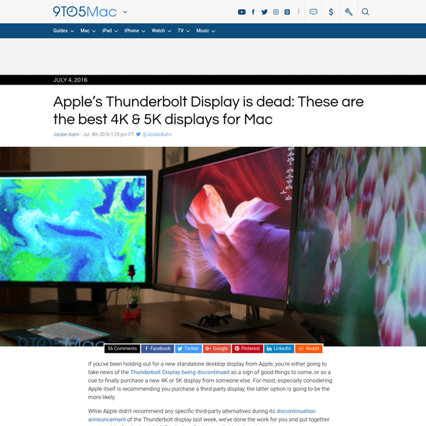 Apple's Thunderbolt Display is dead: These are the best 4K & 5K displays for Mac