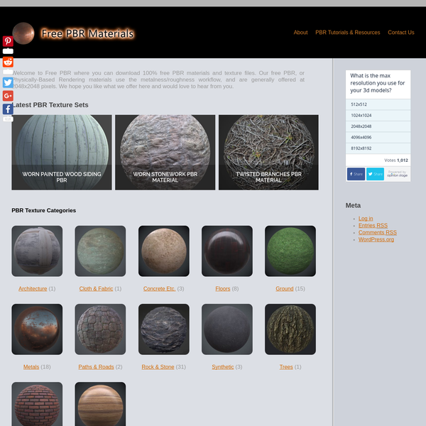 Home Page - Free PBR Materials