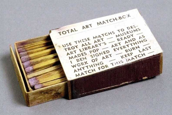 Ben Vautier, A box of matches with label, 1966