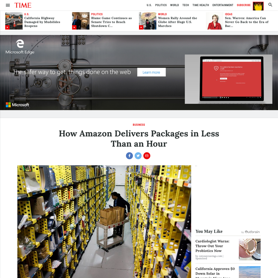 Amazon has proprietary technology that make it easy for workers to find items, package them, and make deliveries in under an hour.