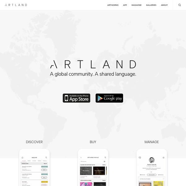 ARTLAND. The social network for art collectors. Download the app.