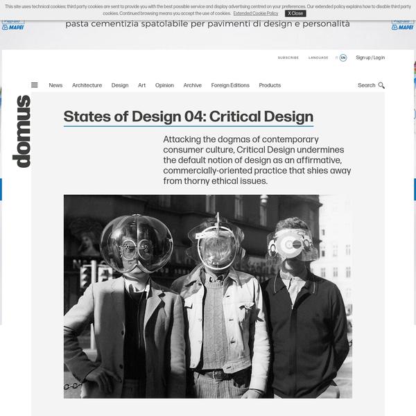 States of Design 04: Critical Design