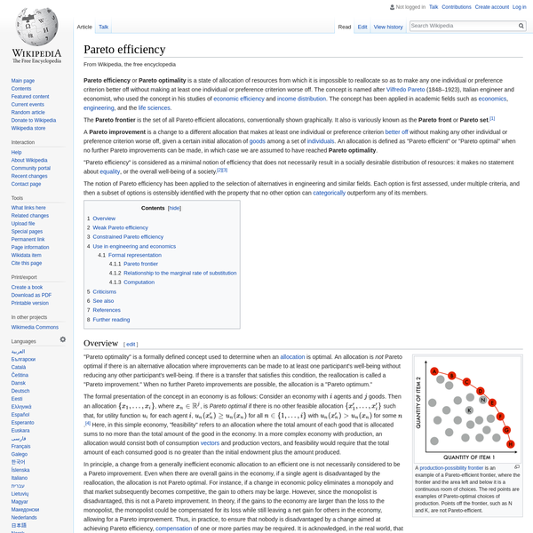 Pareto efficiency - Wikipedia