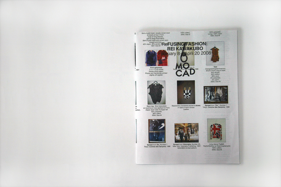 ReFusing Fashion, MOCAD,brochure / folded poster