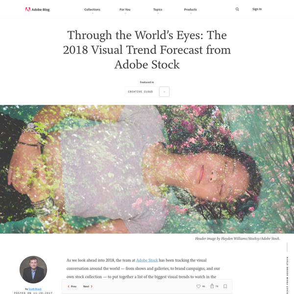 As we look ahead into 2018, the team at Adobe Stock has been tracking the visual conversation around the world - from shows and galleries, to brand campaigns, and our own stock collection - to put together a list of the biggest visual trends to watch in the coming year.