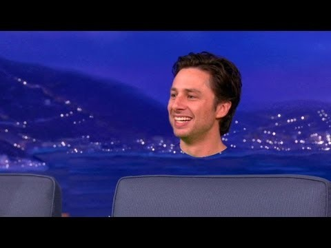 """Zach Braff Shows Off How He Got Monkiefied For """"Oz the Great & Powerful"""" - CONAN on TBS"""