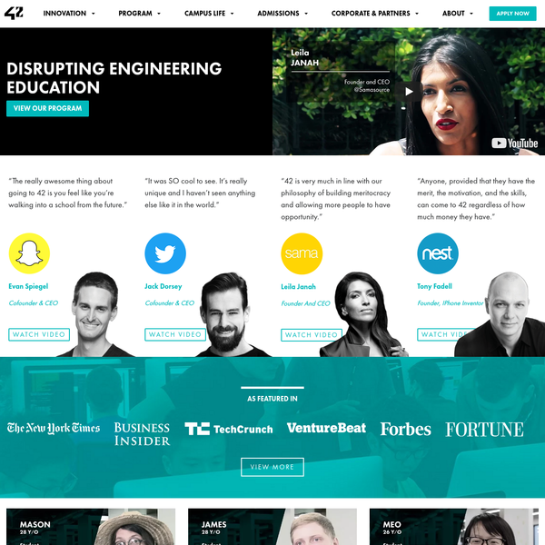 42 Silicon Valley: disrupting software engineering education