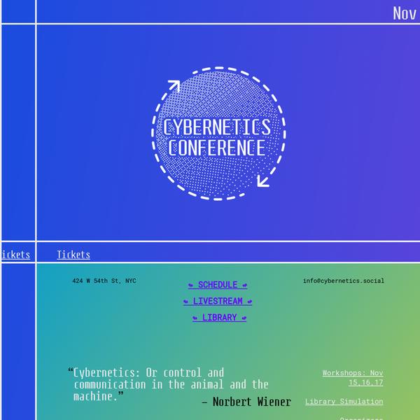 Cybernetics Conference