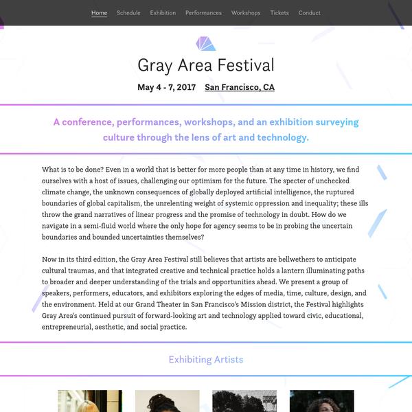 2017 Gray Area Festival