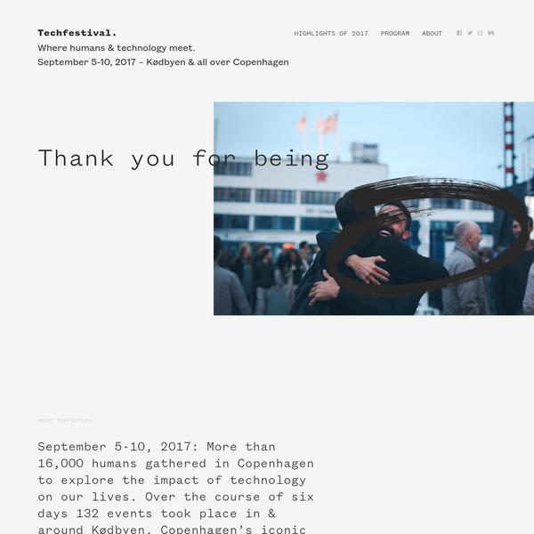 Techfestival. Where humans & technology meet