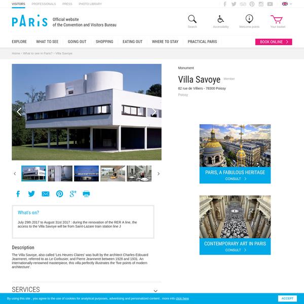 Villa Savoye - Paris tourist office