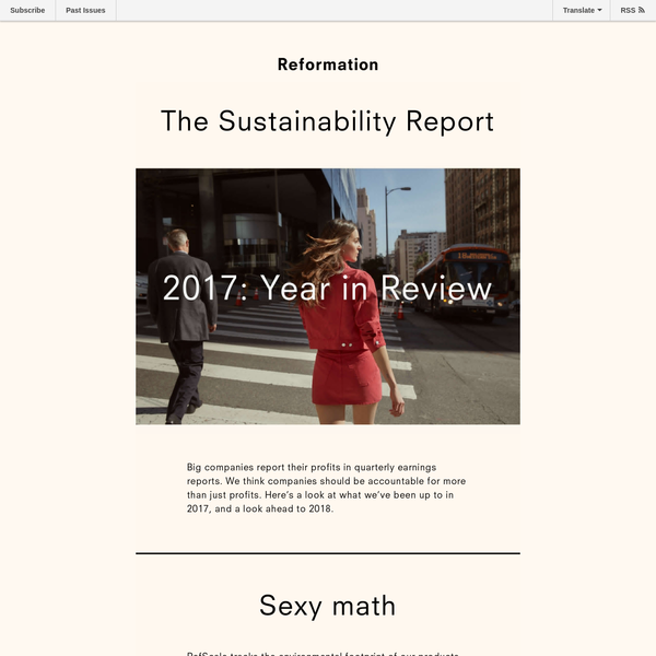 THE SUSTAINABILITY REPORT - 2017