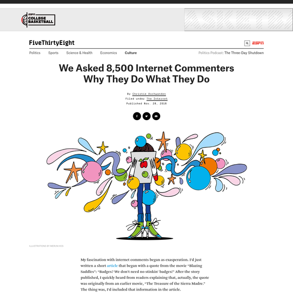 We Asked 8,500 Internet Commenters Why They Do What They Do