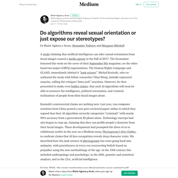 Do algorithms reveal sexual orientation or just expose our stereotypes?