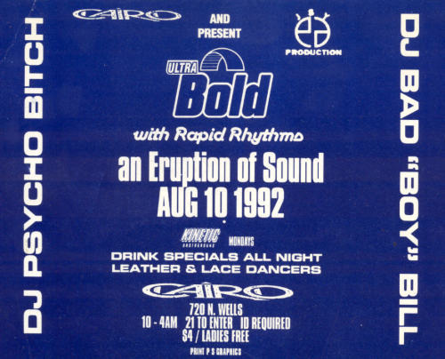 bawwsadface: Chicago Rave Flyer, August 10th, 1992