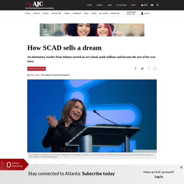 How SCAD sells a dream