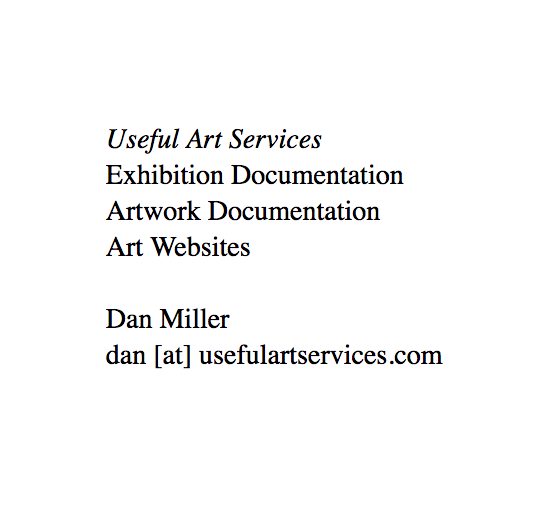 USEFUL ART SERVICES