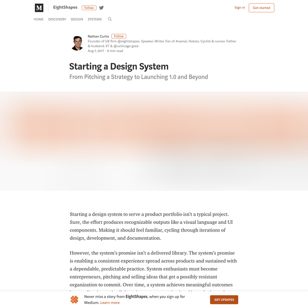 Starting a Design System - EightShapes - Medium