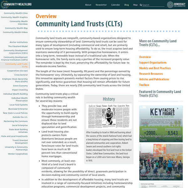 Community Land Trusts (CLTs)