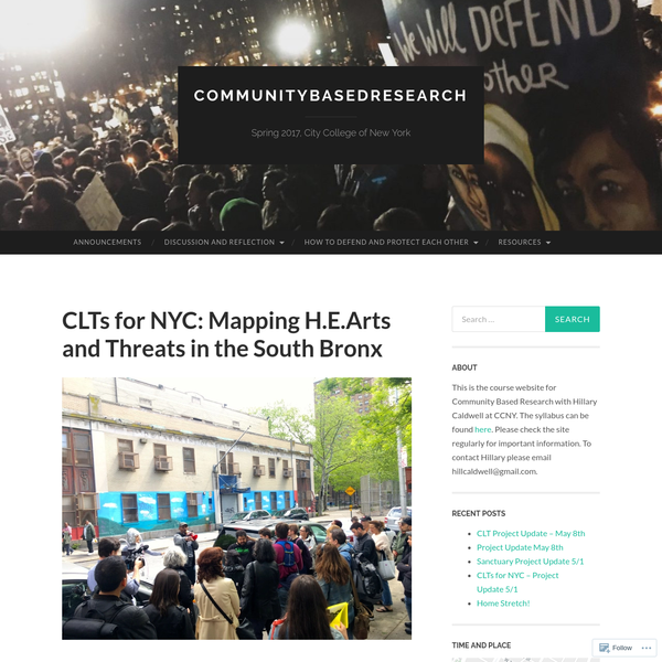 CLTs for NYC: Mapping H.E.Arts and Threats in the South Bronx