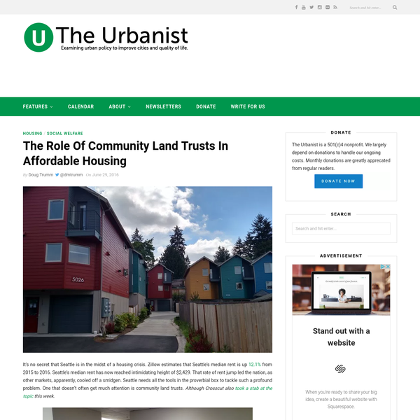 "The Role Of Community Land Trusts In Affordable Housing "" The Urbanist"