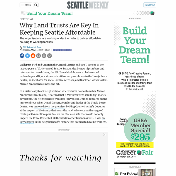 Why Land Trusts Are Key In Keeping Seattle Affordable | Seattle Weekly