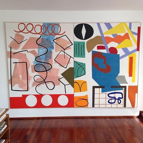 Amazing Shirley Jaffe at Greta Meert's appartment. #shirleyjaffe