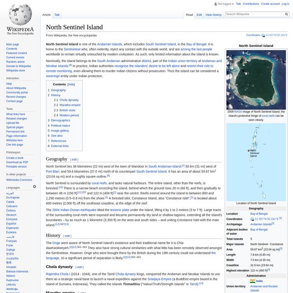 North Sentinel Island - Wikipedia