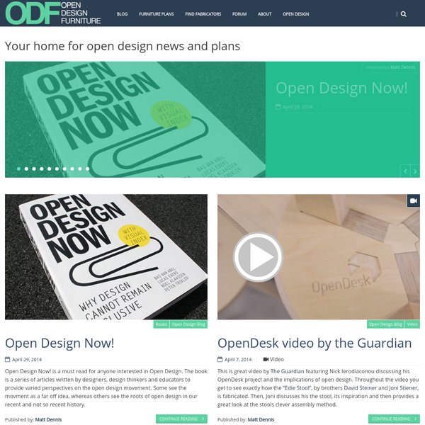 Open Design Furniture - Your home for open design news and plans