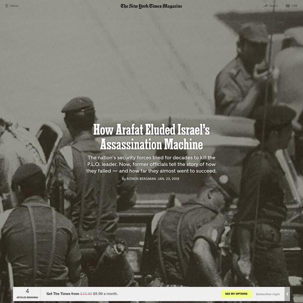 How Arafat Eluded Israel's Assassination Machine