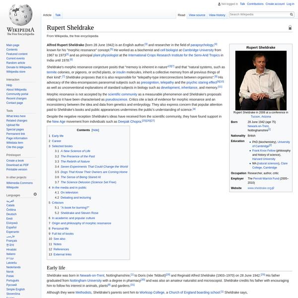 Rupert Sheldrake - Wikipedia