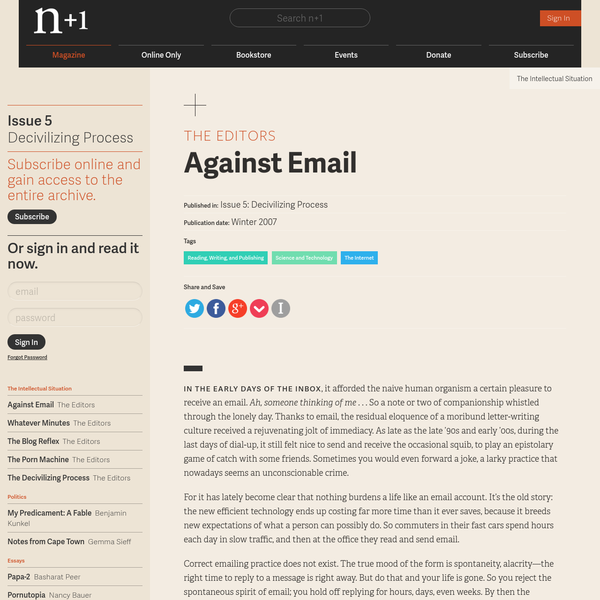 Against Email
