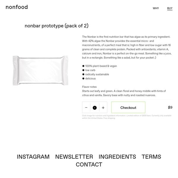 nonbar prototype (pack of 2)