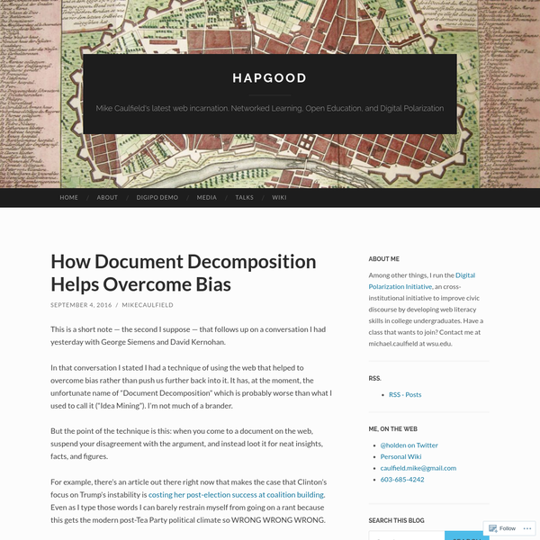 How Document Decomposition Helps Overcome Bias