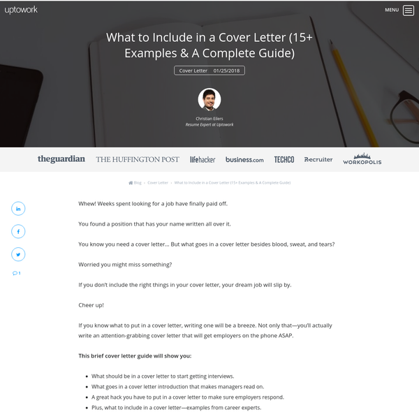 Arena What To Include In A Cover Letter 15 Examples Amp Complete Guide