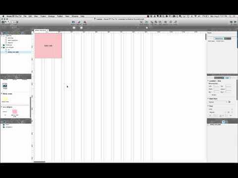 Screencast of Creating an Axure Starter File Workshop