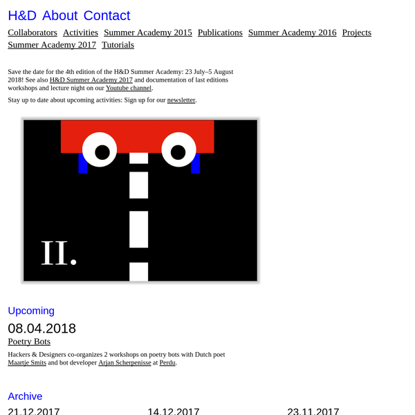 Hackers & Designers * H&D