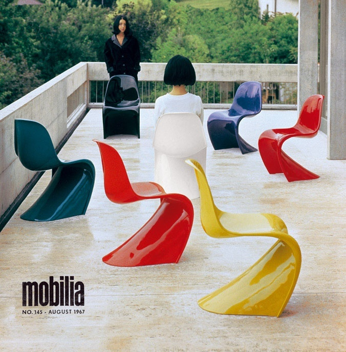Verner Panton Ad for Stacking Side Chair 1967