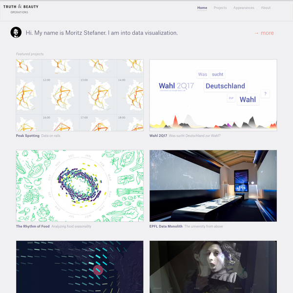 Truth & Beauty - Data visualization by Moritz Stefaner