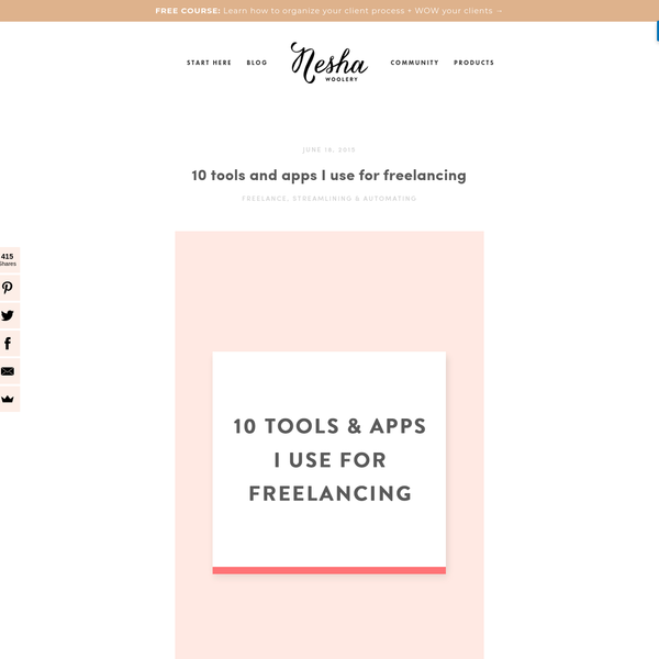 10 tools and apps I use for freelancing