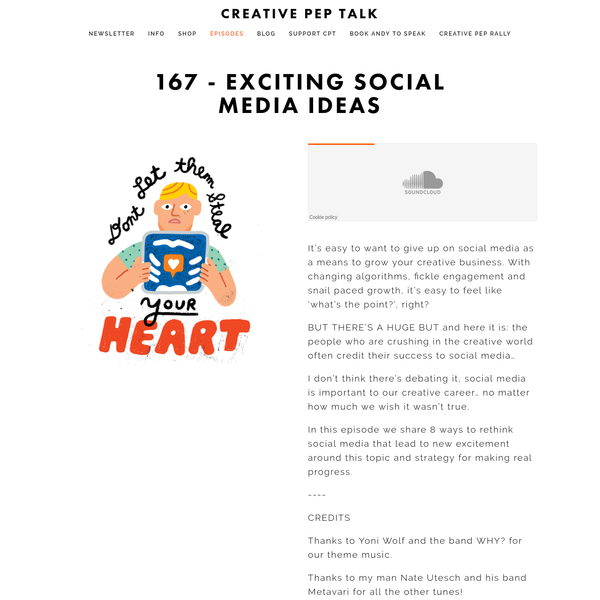 It's easy to want to give up on social media as a means to grow your creative business. With changing algorithms, fickle engagement and snail paced growth, it's easy to feel like 'what's the point?', right?