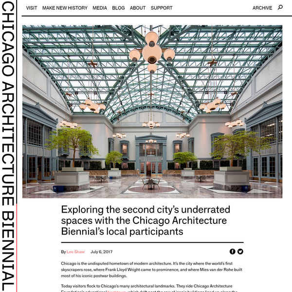 The Chicago Architecture Biennial provides a platform for groundbreaking architectural projects and spatial experiments that demonstrate how creativity and innovation can radically transform our lived experience.