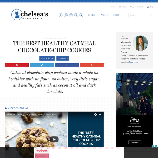 The BEST healthy oatmeal chocolate-chip cookies | Chelsea's Messy Apron
