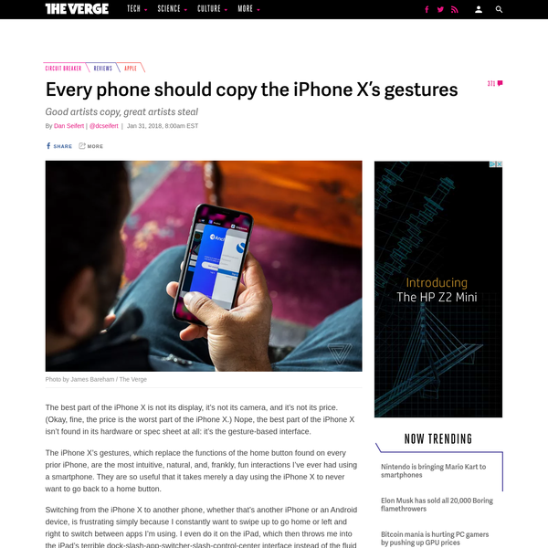Every phone should copy the iPhone X's gestures